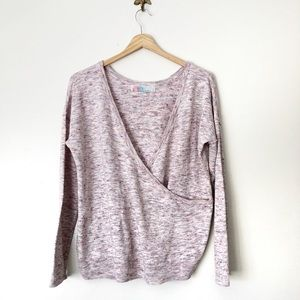 Free People Beach Speckled Wrap sweater Small